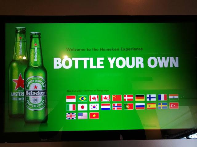 Heineken Experience bottle your own