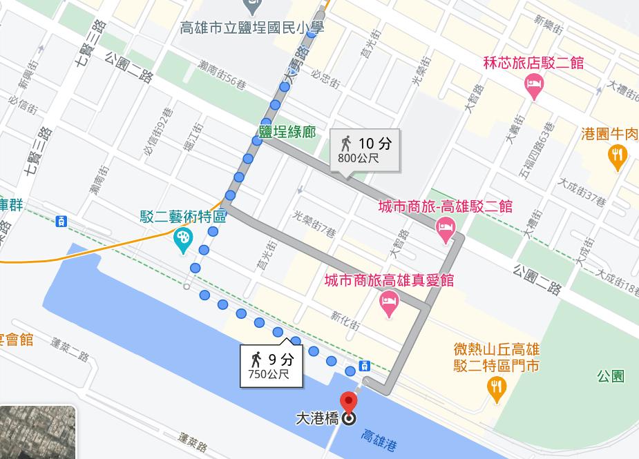高雄大港橋地圖