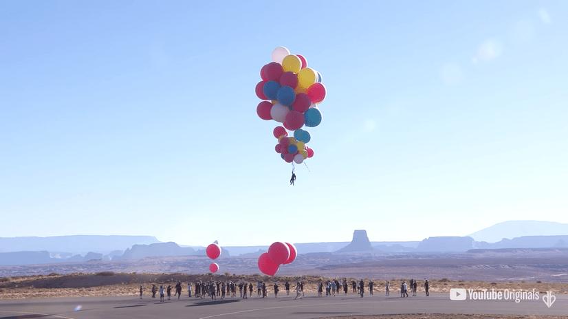 大衛布萊恩氣球升空秀