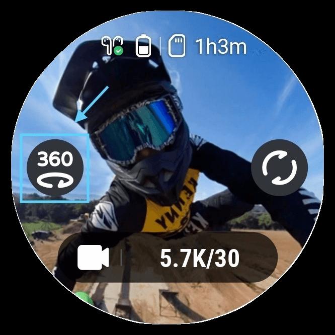 切換至360全景模式