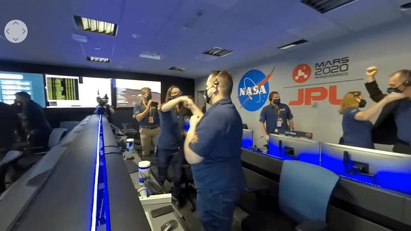 NASA用360相機直播火星登陸任務