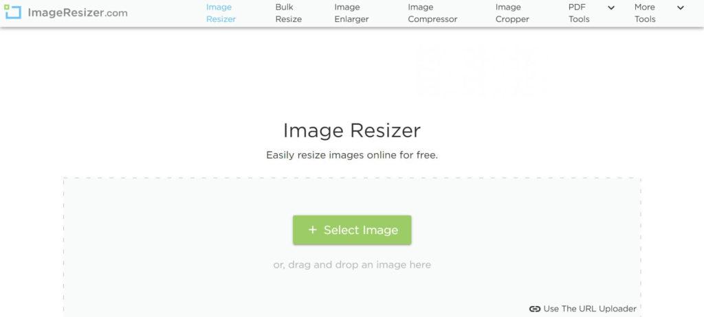 進入Image Resizer網站